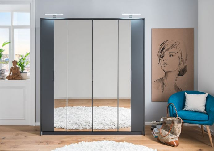 Bali Folding Door Mirrored Roble